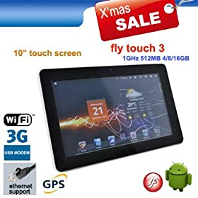 Alf Pad 8GB, 10.2 inch Resistive Android 2.3 Tablet PC, WiFi, RJ045, external 3G, GPS, 1080 P video out, Camera, 1.0 GHz CPU/512MB/8GB