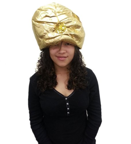 Gold Turban Hat - Costume Oversized Turban In Golden