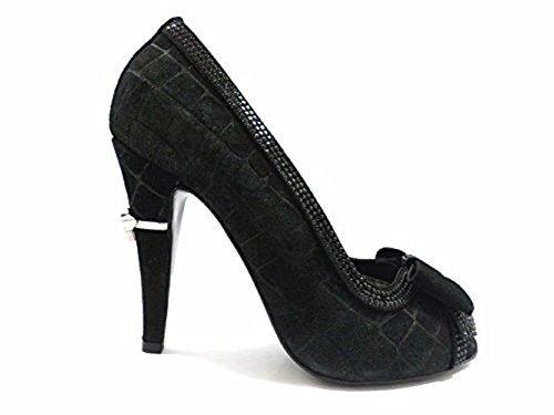 scarpe donna RICHMOND 37 EU decoltè nero camoscio ZX07