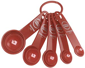 KitchenAid 5-Piece Measuring Spoon Set, Red