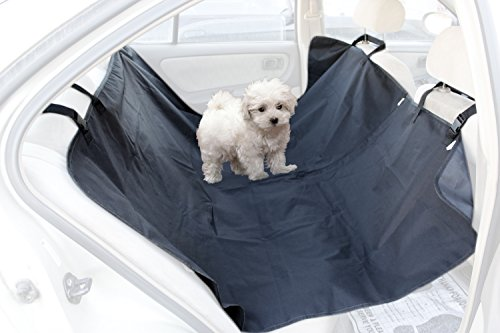 OxGord Pet Dog Car Seat Cover for Rear Bench Seat - 2015 Hammock Style - Passenger Can Still Use Seat Belts - Thick HD Fabric Waterproof and Washable - 58