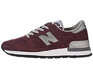 New Balance Men's 990 Classics Burgundy/Grey Running Shoe 11.5 Men US