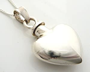 StonesandSilver, sterling silver, plain silver , screw top locket (suitable for ashes, hair or perfume)