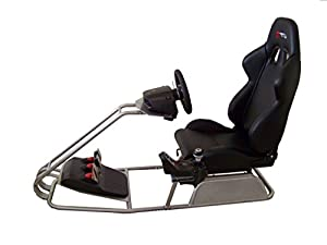 GTR Racing Simulator - GTS Model with Adjustable Racing Seat - Driving Simulator Cockpit with Gear Shifter Mount from GTR Simulator