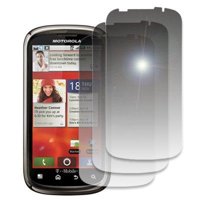 EMPIRE 3 Pack of Mirror Screen Protectors for T-Mobile Motorola CLIQ 2