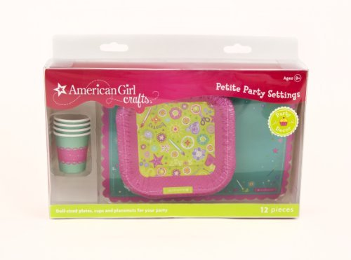 American Girl Crafts Doll Size Plates Cups And Placemats - 1