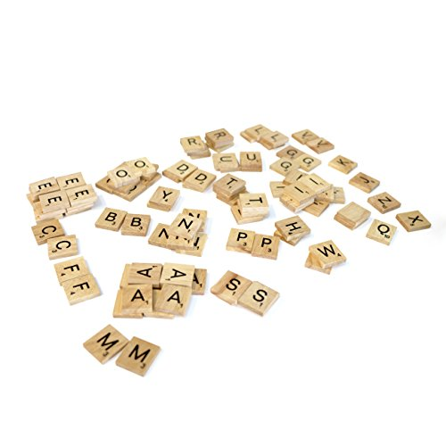 200 Scrabble Tiles - NEW Scrabble Letters - Wood Pieces - 2 Complete Sets - Great for Crafts, Pendants, Spelling - 1