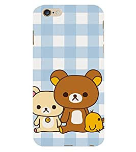 99Sublimation Teddy Bear 3D Hard Polycarbonate Back Case Cover for Apple iPhone 6 Plus
