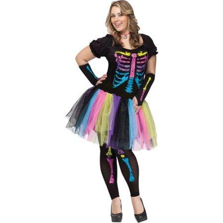 [Funky Punk Bones Adult Halloween Costume (Plus)] (Funky Punk Bones Adult Costumes)