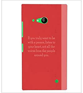 PrintDhaba Quote D-4974 Back Case Cover for NOKIA LUMIA 730 (Multi-Coloured)