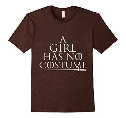 [Men's a girl has no costume tshirt 2XL Brown] (Sally Brown Costume)