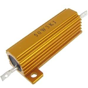 Amazon.com: 50W Watt 3K Ohm 5% Chasis Mounted Aluminum Case Resistor