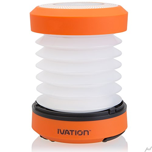 Ivation Rainproof Collapsible Hand crank LED