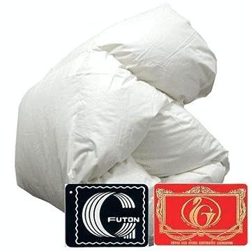 【送料無料】羽毛布団 エクセルゴールド ホワイトダックダウン90% 掛け布団 日本製 シングルロング