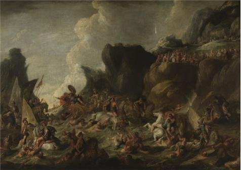 Oil Painting 'Hans Jordaens - The Death Of The Pharaoh', 18 x 26 inch / 46 x 65 cm ,