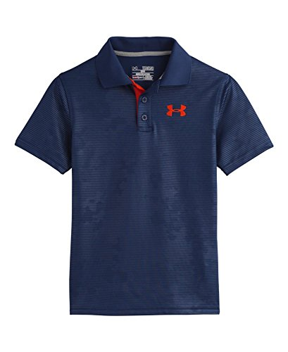 Under Armour Big Boys' Ua Match Play Embossed Polo Yxl Deep Space Blue front-1038915