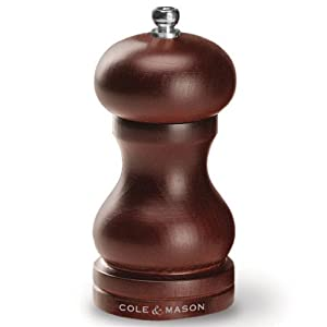 Cole and Mason Hb0444P Capstan-Forest 4-3 4-Inch Dark Beech Wood Pepper Mill by Cole & Mason
