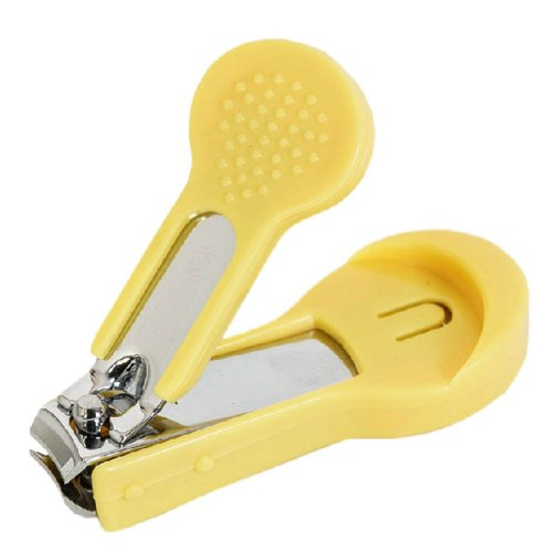 Baby Nail Care Infant Nail Clipper Toddler Nail Scissors Prevent Scratch YELLOW - 1