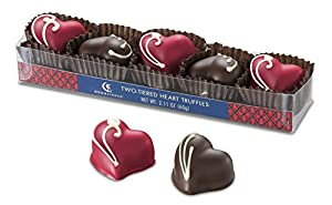 Moonstruck Chocolate 5pc Two-Tiered Heart Truffles