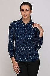 Kaaryah - Blue Printed Full Sleeves Shirt