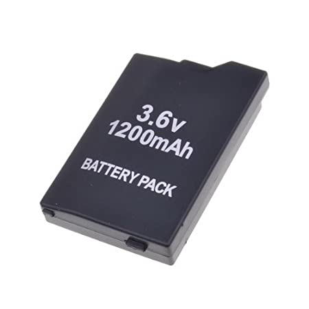 Black 3.6V 1200mAh Rechargeable Lithium Battery Pack for PSP2000/2006