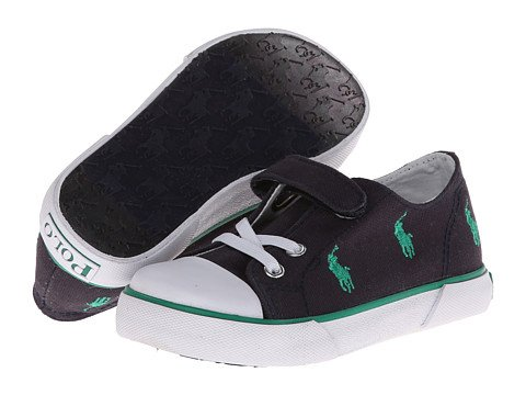 Polo Ralph Lauren Kids Bal Harb Captoe Captoe High Top Sneaker (Toddler),Navy/Green,9 M Us Toddler