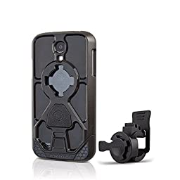 Rokform Sport Series Bike Mount Kit and Rugged Sport Protective Case, Safely lock your phone in place with the Quad Tab and Magnetic Mount System, for Samsung Galaxy S4 (Black)