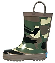 RanyZany Cool Camo Boot Size 7- Rain Boots For Boys - Kids Rain Boots - Easy To Clean - Rubber Lining