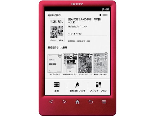 Sony e-book reader 6 Reader type Wi-Fi model red PRS-T3S/R