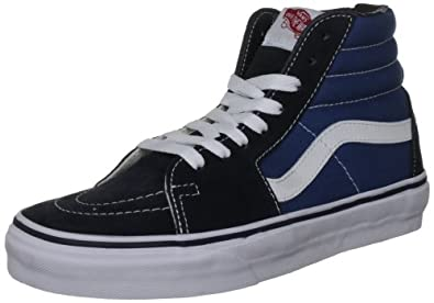 Vans U Sk8 Hi, Baskets mode mixte adulte - Bleu (Navy), 34.5 EU