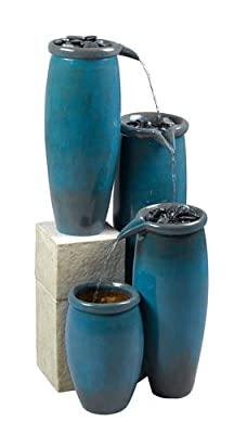 Kenroy Home 50008 Indoor/Outdoor Floor Fountain from the Agua Collection,