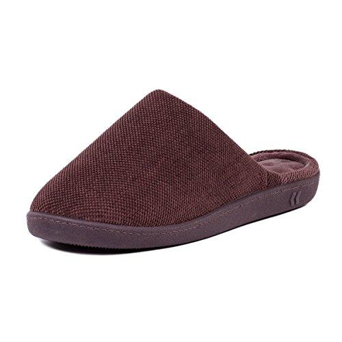 isotoner-mens-textured-pillowstep-mule-slippers-85-95-uk-medium-brown