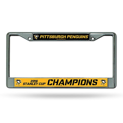 NHL Pittsburgh Penguins 2016 Stanley Cup Champions Chrome Plate Frame