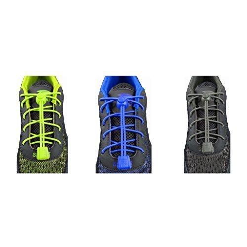 3 Coppie Facile da Indossare Lacci da scarpe per adulti e Bambini, Running Locklaces by FURGONE - LockLace-030405