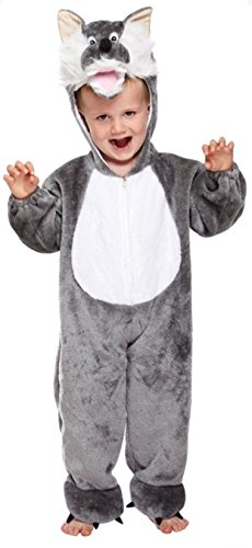 Cuddly Wolf Toddler Fancy Dress Costume Age 3 Years
