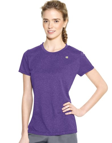 Champion Women'S Powertrain Short Sleeve Heather Tee, Electric Purple Heather, 2Xlarge