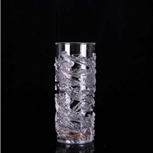 GYMNLJY Luminous dragon couple induction glass water Cup-colorful luminous color changing novelty idea Cup , 1