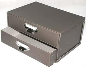 aufbewahrungsbox mit 2 schubladen schubladenbox. Black Bedroom Furniture Sets. Home Design Ideas