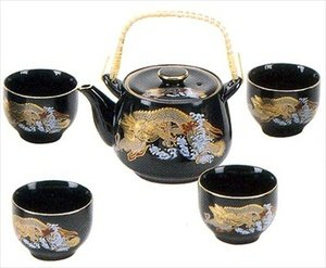 Porcelain Tea Set Golden Dragon 24oz #SE6-BD