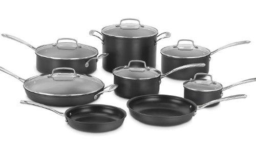 Cuisinart 14-Piece Classic Non-Stick Hard Anodized Cookware Set (68-14SA)