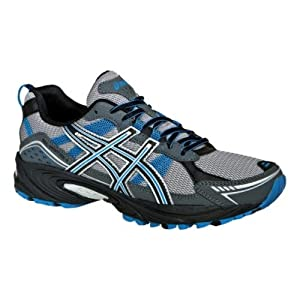 ASICS Men's GEL-Venture 4 Running Shoe,Charcoal/Carbon/Blue,10.5 4E US