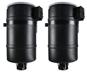 (2) MOULTRIE 30 Gallon FeedCaster Pro Directional Pond Fish Feeders w/ Mount
