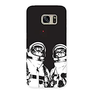 Astro Cat Back Case Cover for Galaxy S7