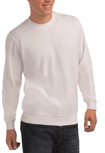 Hanes Tagless Organic Cotton Sweatshirt Jumper S-3XL