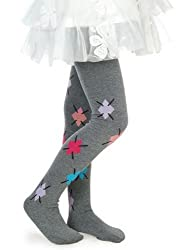 Girls Fashion Tights Grey w/ Argyle Design (XL)