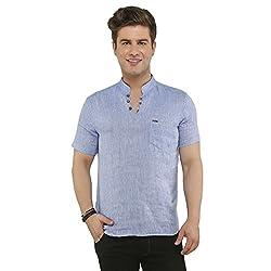 Attila Men's Casual Shirt (1106412503_Blue_40)