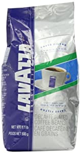 Lavazza Gran Filtro Decaffinated Whole Bean Coffee, 1.1 Pound Bag