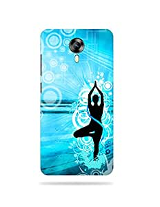 alDivo Premium Quality Printed Mobile Back Cover For Micromax Canvas Epress 2 E313 / Micromax Canvas Epress 2 E313 Printed Peace / Yoga Mobile Case / Cover (MKD078)