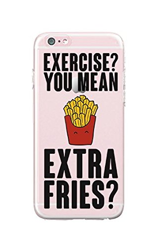 iPhone 5/iPhone 5S - Durable Slim Case - Exercise You Mean Extra Fries - French Fries Case - Funny Stuff For Teens - Teenager (Iphone 5 Cases French Fries compare prices)