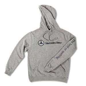 Mercedes Benz Fleece Pullover Hoodie - LARGE - GRAY by Mercedes Benz